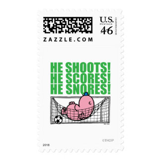 He Shoots He Scores He Snores Stamp