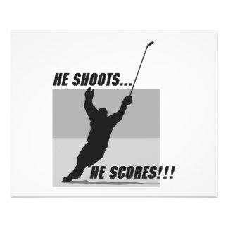 he shoots he scores hockey design flyer design