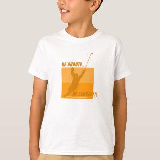 He Shoots He Scores - Orange T-Shirt