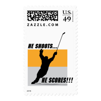 He Shoots....He Scores! Postage Stamp