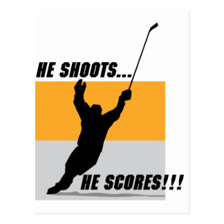 He Shoots....He Scores! Postcard