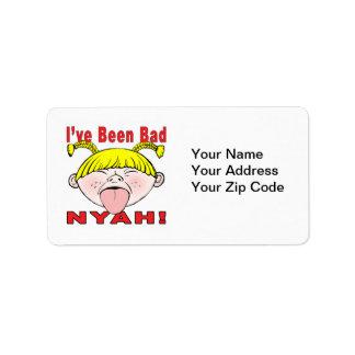 He sido malo (el chica) etiquetas de dirección