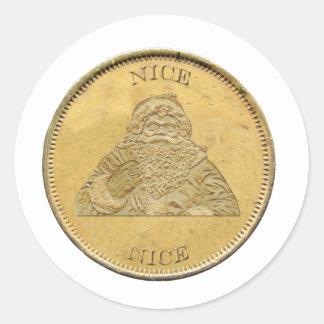 He sido Niza, moneda de Santa Pegatina Redonda