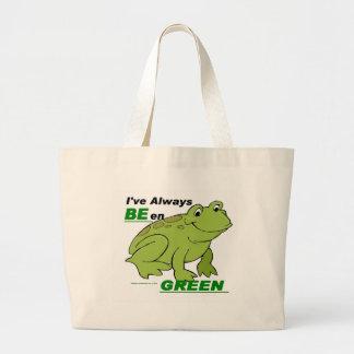 He sido siempre (2) verde bolsa de tela grande