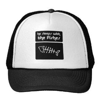 he sleeps with the fishes trucker hat