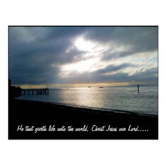 He that giveth life unto the world. postcard