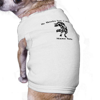 He Thinks He's A Wolf Funny T-Shirt