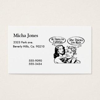 He Thinks She Thinks Business Card
