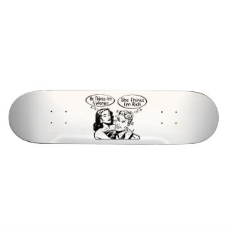 He Thinks She Thinks Skateboard Deck