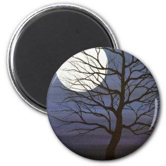 He tocado la luna imán redondo 5 cm