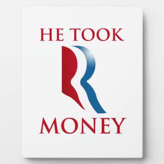 HE TOOK R MONEY.png Photo Plaque