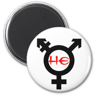He Transgender 2 Inch Round Magnet