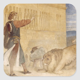 He Treated the Lions as though he was joking Square Sticker