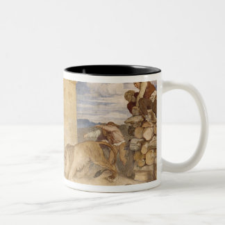 He Treated the Lions as though he was joking Two-Tone Coffee Mug