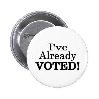 He votado ya pin redondo de 2 pulgadas