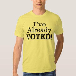 He votado ya playera