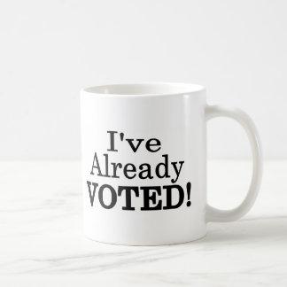 He votado ya taza