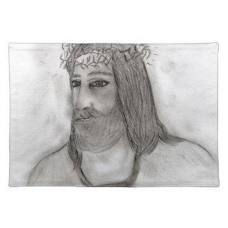 He Walks With Me Cloth Placemat