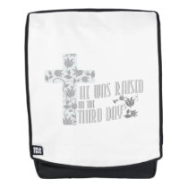 He Was Raised On The Third Day Christian Easter Backpack