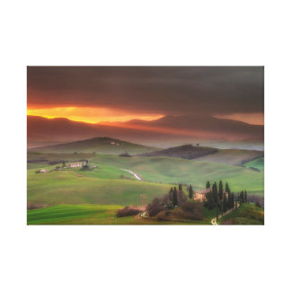 He watching us, Tuscany, Italy Canvas Print
