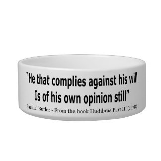 He Who Complies Against His Will by Samuel Butler Bowl