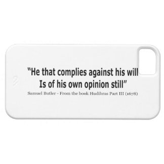 He Who Complies Against His Will by Samuel Butler iPhone SE/5/5s Case