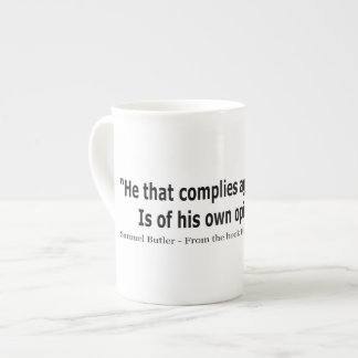He Who Complies Against His Will by Samuel Butler Tea Cup