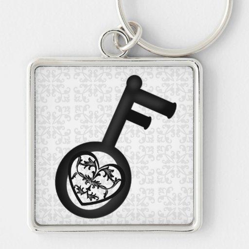 He Who Holds Key Opens Heart Key Design Keychain