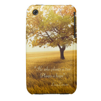 He who plants a tree Plants a hope quote iPhone 3 Case-Mate Case