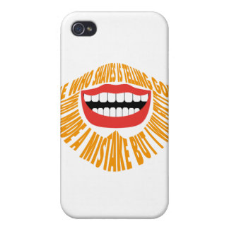"""HE WHO SHAVES IS TELLING GOD """"YOU MADE A MISTAKE B iPhone 4/4S COVERS"""