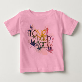 He who would travel happily must travel lightly tee shirt