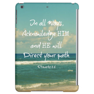 He will direct your Path Bible Verse iPad Air Covers