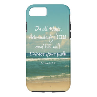 He will direct your Path Bible Verse iPhone 7 Case