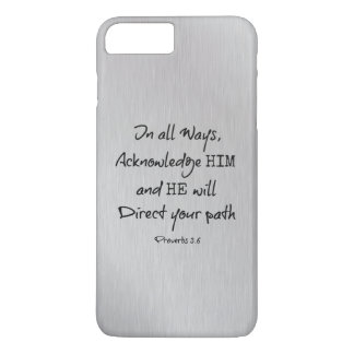 He will direct your Path Bible Verse iPhone 7 Plus Case