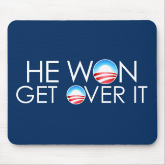 He Won, He Over It Mouse Pad