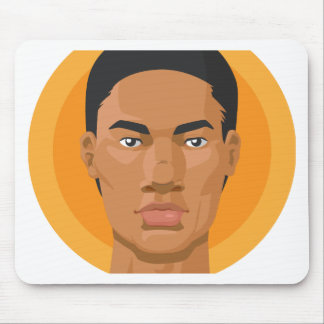 Head - African American Man Mouse Pad
