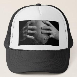Head and hands trucker hat