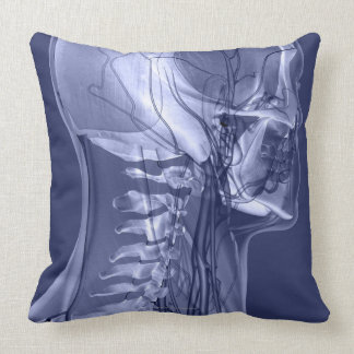 Head and Neck Blood Vessels Throw Pillow