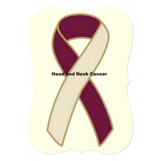 Head and Neck Cancer 5x7 Paper Invitation Card