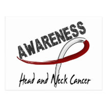 Head and Neck Cancer Awareness 3 Postcard