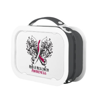 Head and Neck Cancer Awareness Butterfly Yubo Lunchbox