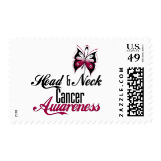Head and Neck Cancer Awareness Butterfly Postage