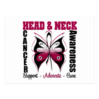 Head and Neck Cancer Awareness Butterfly Postcard