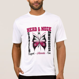 Head and Neck Cancer Awareness Butterfly Tee Shirt