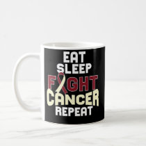 Head and Neck Cancer Awareness Coffee Mug Burgundy