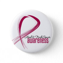 Head and Neck Cancer Awareness Grunge Ribbon Pinback Button