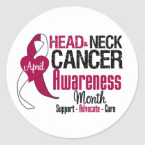 Head and Neck Cancer Awareness Month Classic Round Sticker