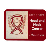Head and Neck Cancer Awareness Ribbon Angel Magnet