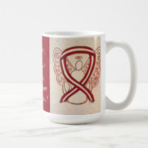 Head and Neck Cancer Awareness Ribbon Angel Mug