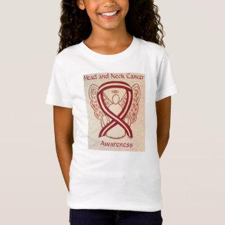 Head and Neck Cancer Awareness Ribbon Angel Shirt